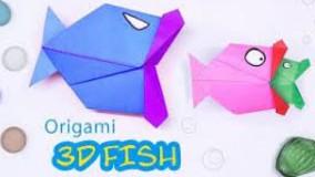 کاردستی سه بعدی کاغذی برای کودکان - ماهی متحرک