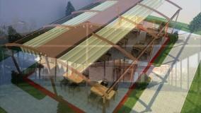حقانی 09380039391-سقف برقی رستوران -سایبان جمع شونده فست فود