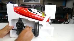 جعبه گشایی قایق کنترلی پر سرعت JJRC S1/ایستگاه پرواز