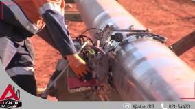 عملیات راه اندازی لوله گازرسانی