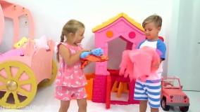 دیانا و روما - بازی با مگی در خانه