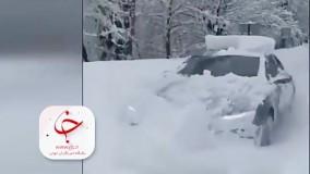 قدرت نمایی خودروی آئودی در جاده برفی