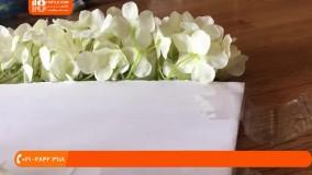 تشریفات عروسی - دکوراسیون میز بزرگ عروسی - دکوراسیون گلدار