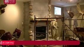 آموزش نصب سنگ آنتیک - تزئین و بازسازی شومینه با سنگ های گرد و طبیعی
