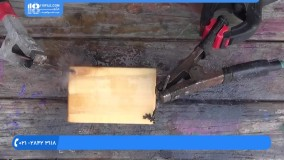 انجام طرح لیختنبرگ روی مکعب چوبی - لیختنبرگ