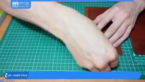 دستبند و کیف چرمی - ساخت کیف پول چرمی