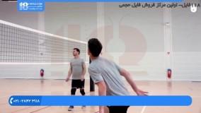 والیبال به کودکان - گرم کردن 3 نفره برای ضربات حمله