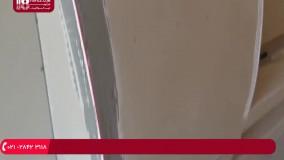 کناف کاری - نصب کناف پشت تلویزیون