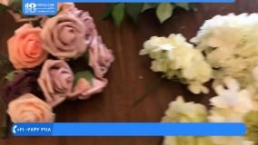 تشریفات عروسی - دسته گل به شکل حلقه