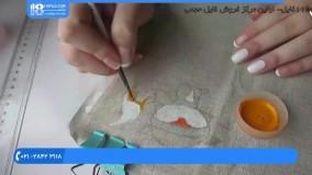 نقاشی روی پارچه-کشیدن روباه عروسکی روی پارچه