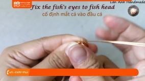 آموزش زیورآلات-آویز سه بعدی ماهی با کوارتز بزرگ بدون سوراخ