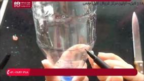 نقاشی روی شیشه-آموزش نقاشی روی بطری پلاستیکی
