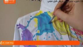 نقاشی روی پارچه - طرح فانتزی