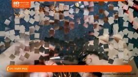 زیورآلات با سیم مسی - ساخت آویز طرح گل داوودی با سیم مسی و سنگ