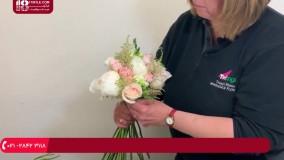 گل آرایی - آموزش درست کردن دسته گل مشابه دسته گل عروس