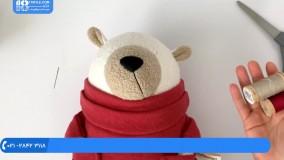 عروسک پولیشی - آموزش دوخت چشم مهره ای عروسک