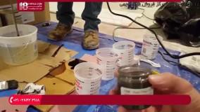 اجرای کفپوش اپوکسی-ترکیب چند رنگدانه اپوکسی متالیک برای پوشش کف
