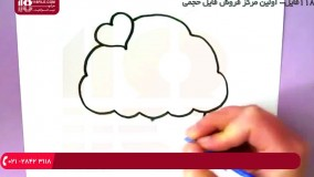 آموزش نقاشی به کودکان -  نحوه نقاشی کردن کیک فنجانی جذاب
