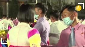 رقص جمعی در پیونگیانگ به مناسب تولد کیم ایل سونگ