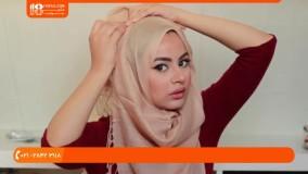 آموزش بستن شال و روسری-سبک ساده حجاب