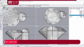 جواهر سازی - دستورالعمل طراحی جواهر در نرم افزار راینو، شماره 9 (طراحی حلقه نامزدی )