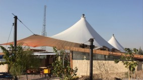 حقانی 09380039391-سقف خیمه ای بام هتل-فروش سقف خیمه ای روفگاردن تالار