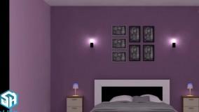 رنگ بندی در اتاق خواب