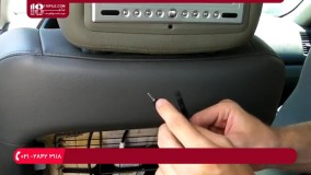 آموزش نصب سیستم صوتی خودرو - نصب مانیتور پشت صندلی