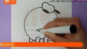 نقاشی به کودکان - نحوه نقاشی کردن دونالد