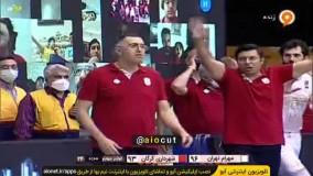 دقایقی هیجان انگیز از دیدار فینال بسکتبال میان شهرداری گرگان - مهرام