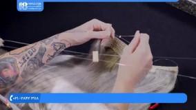 آموزش اکستنشن مو - نصب میکرو روی اکستنشن کشی