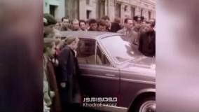 صف کشیدنِ مردم روسیه برای تماشای پیکان ایران
