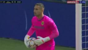 خلاصه بازی ویارئال 1 - بارسلونا 2