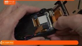 آموزش تعمیر دوربین کامپکت - تمیز کردن سنسور سی سی دی لنز