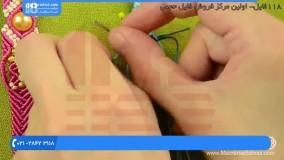 آموزش دستبند مکرومه -  آموزش ساخت دستبند مکرومه در دو رنگ با مهره