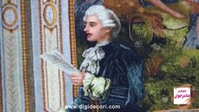 تابلو فرش فرانسوی طرح شاعر جوان - دیجی دکوری