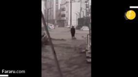 بارش شدید و سیل در مکه