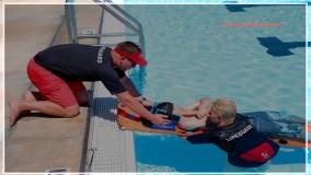 غریق نجات - آموزش نجات فرد دچار مصدومیت نخاعی