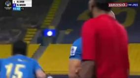 حرکت جنجالی امرابط ، بازیکن النصر هنگام تعویض