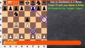 آموزش شطرنج - کیش و مات در چهار حرکت