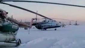 تیکآف در فرودگاه روسیه در دمای ۳۵- درجه