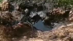 تخلیه پسماند های نفتی در منابع آبی غیزانیه