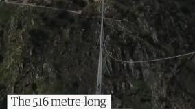 طولانی ترین پل پیاده روی معلق جهان افتتاح شد