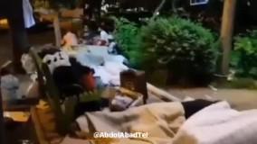 پارک خوابیِ شبانه برای دیدار با احمدی نژاد !