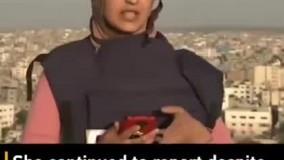 حمله به یک برج دیگر در غزه هنگام گزارش زنده خبرنگار الجزیره