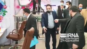 کاندیدا توری تاجزاده با همراهی همسرش