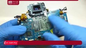 آموزش تعمیر دوربین عکاسی | باز کردن بورد مدار