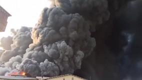 مهار آتش سوزی در کارخانه الکل قم