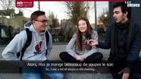 آموزش  زبان فرانسه مبتدی    غذاهای مردم فرانسه