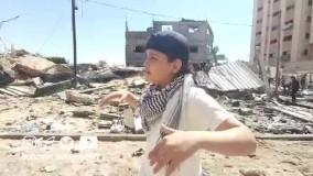 او صدای غزه است. صدای فلسطین...